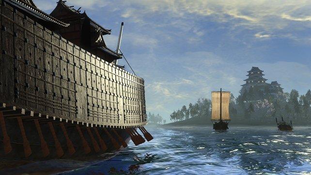 Das Schlachtschiff 'Oaktebune' besitzt keine Kanonen, sondern ist mit Bogenschützen bemannt.
