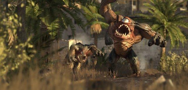 Sam begegnet großen, grimmigen Monstern.