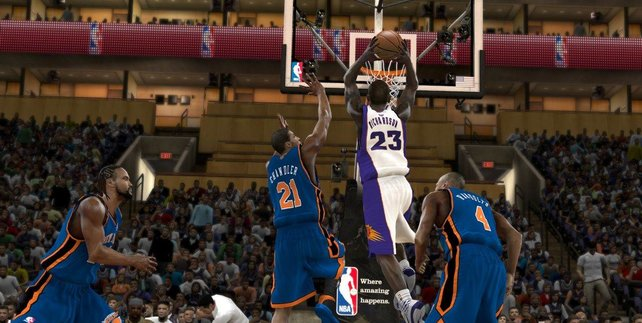 Spektakuläre Dunkings stehen auch in NBA 2K an der Abendspielordnung.