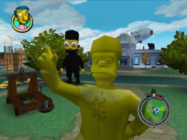 Bart im Ninja-Kostüm