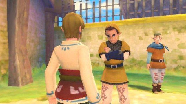 Links Mitschülern wirken origineller als die Passanten in Twilight Princess.
