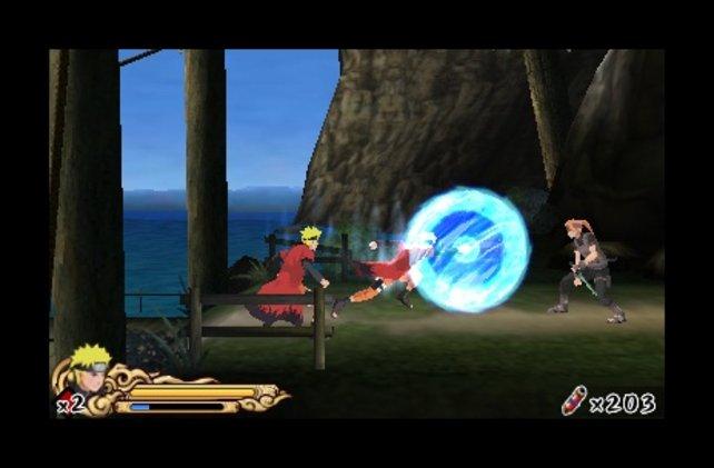 Naruto im Kampf auf dem Nintendo 3DS.
