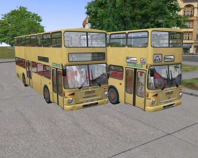 Die Busse im OmSi sind ein echter Hingucker.