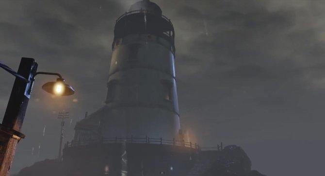 Ein Leuchtturm und die raue See bei Nacht - klingt nach dem ersten Bioshock.