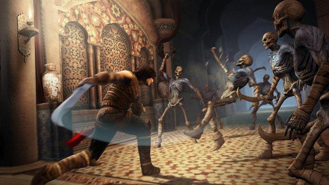 Die Sandgeister tauchen in Massen auf. Gut das des Prinzen Schwert nie stumpf wird.