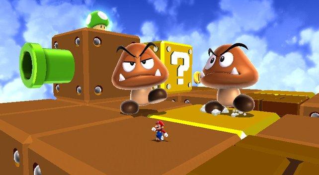 Leveldesign wie bei Super Mario World? Zumindest die Gumbas sind wieder mit dabei.