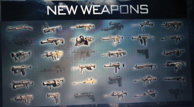 Darf's ein bisschen mehr sein? Dreißig neue Waffen sind im Angebot.