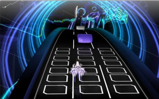 """""""Audiosurf"""" bietet ein atemberaubendes Farbenspiel"""