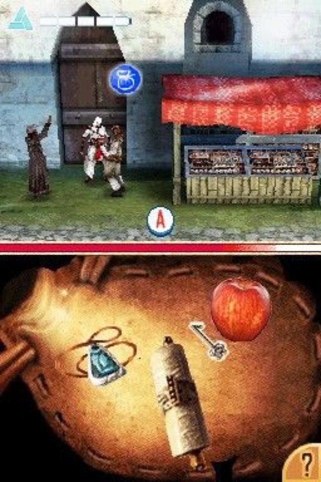 Der Taschendiebstahl geschieht in Form eines simplen Minispiels.