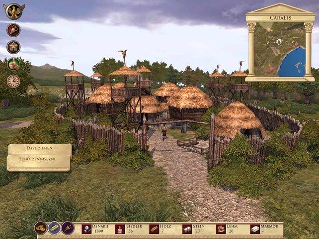 Fehlt nur noch das Baumhaus für den Barden im Barbarendorf