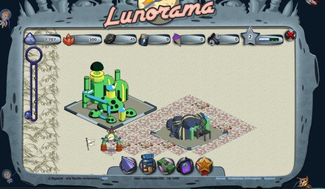 Nach und nach könnt ihr in Lunorama neue Gebäude errichten.