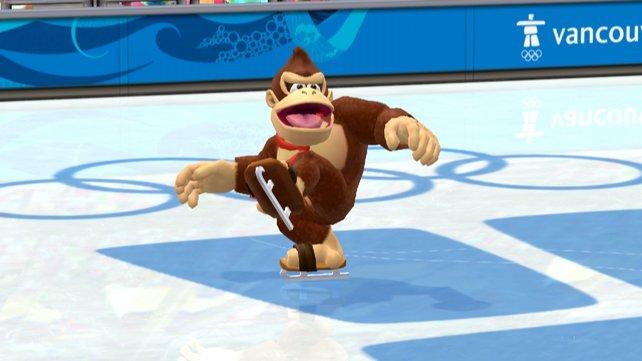 Donkey Kong ist wahrscheinlich nicht die ideale Besetzung beim Eiskunstlauf.