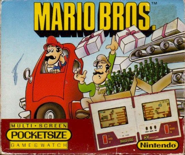 Mario hat schon alles ausprobiert. 1983 haben er und Luigi sogar Flaschen verpackt (Mario Bros. für Game & Watch).