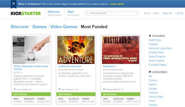Kickstarter ist der Geburtshelfer für so manches Spiel.