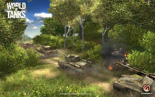 In World of Tanks kommen vor allem Teamspieler zum Zug.