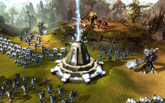 BattleForge kommt mit zwei Ressourcen aus: Energie und farbige Orbs.