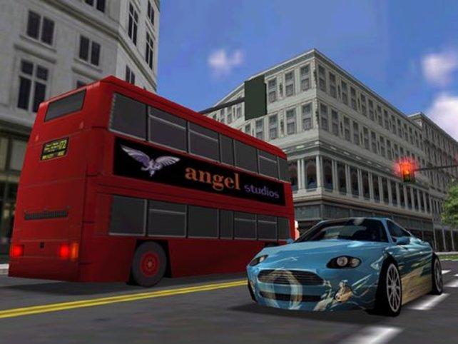 Der typisch Doppeldeckerbus in London.