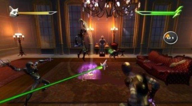 Bolt räumt mit seinem Laserblick auf.