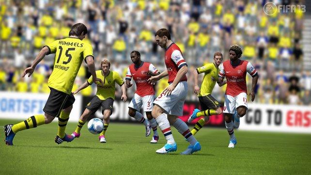 Fifa 13 zeigt erhöhte Reaktionszeiten bei den Fußballspielern.
