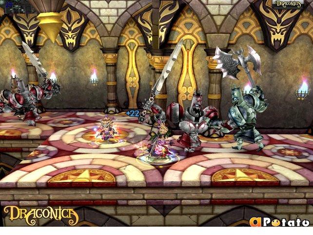 Dieser Dungeon wird von fiesen Ritter-Monstern bewacht.