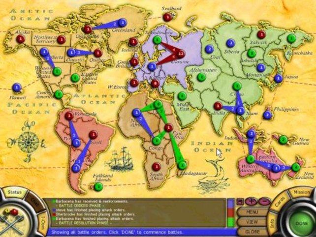 Die Weltkarte innerhalb des Spiels.