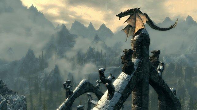 In Skyrim bilden Drachen die wichtigsten Gegner.