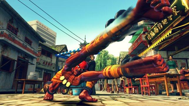 Einer der unzähligen Veteranen aus Street Fighter 2 - Dhalsim fährt die Arme aus.
