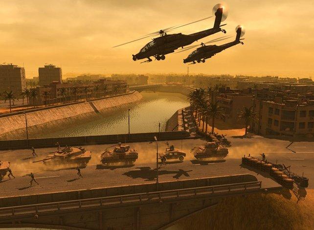 Wer muss bei solchen Szenen nicht an Black Hawk Down denken?