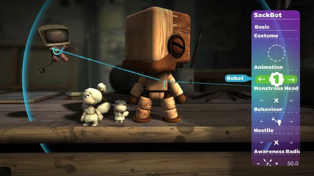 Sackbots treten in allen erdenklichen Größen auf und ziehen alle Kostüme an, die Sackboy auch tragen kann.
