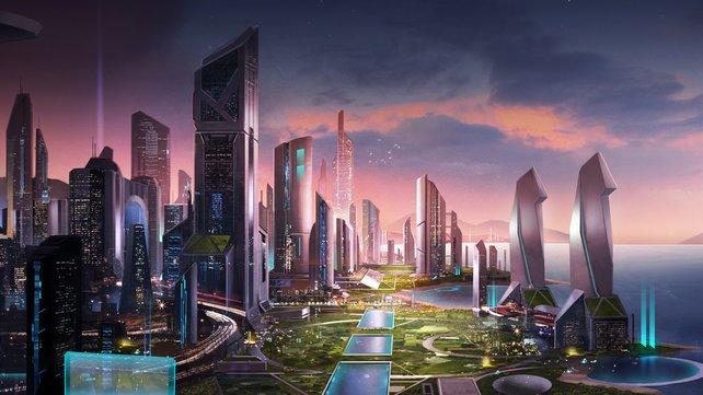 Erste vorgezeichnete Ideen gab es passend zur E3. Als Kulisse ist diese Stadt für Trials Fusion ein beeindruckender Schauplatz.