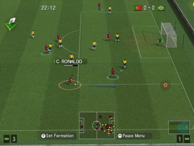 Ronaldo setzt zum Sprint an die Torauslinie an, um von dort eine Flanke zu schlagen