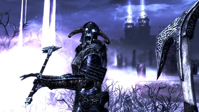In der Welt der Toten geht es ordentlich zur Sache. Skelette, so weit das Auge reicht. Brr!