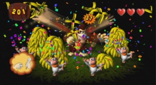 In Donkey Kong Jungle Beat lasst ihr die Affen tanzen.