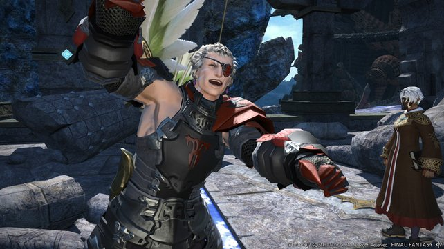 Da lacht er! Die Charaktere in A Realm Reborn glänzen durch Persönlichkeit.