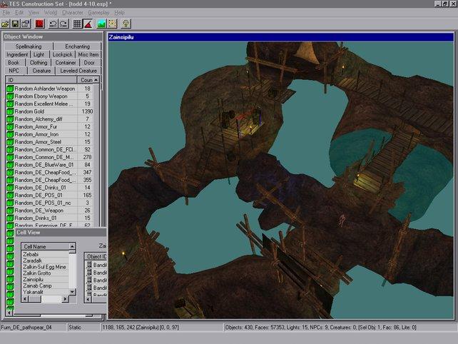 Der Editor zu Morrowind besticht durch die einfache Bedienbarkeit. Hier kann jeder alles bauen - mit etwas Übung.