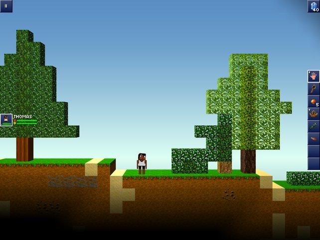The Blockheads ist wie Minecraft, nur zweidimensional und gratis.