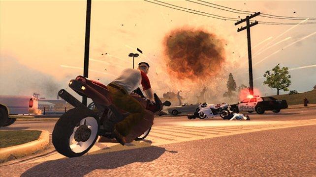 Mit dem Motorrad durch die Straßen von Stillwater.