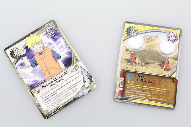 So sehen die Karten zum Spiel aus. Oben rechts der Code.