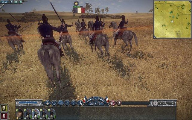 Die Kavallerie ist den Kanonen deutlich überlegen.