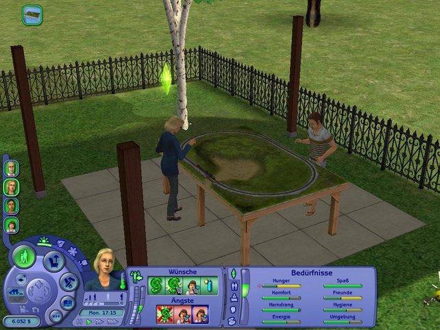 Auch die Modelleisenbahn gehört zu den neuen Hobbybeschäftigungen der Sims