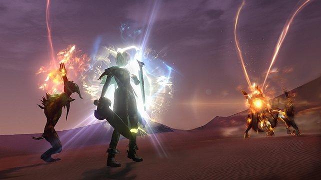 Die Kämpfe in Lightning Returns verlangen unter anderem gutes Reaktionsvermögen.
