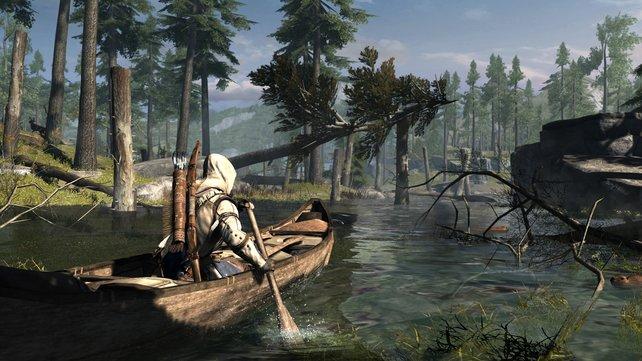 Große Teile des Spiels verbringt ihr in der freien Natur zwischen Boston und New York.