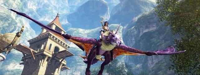 In Dragon's Prophet könnt ihr die Umgebung nicht nur auf dem Rücken eines Drachens unsicher machen.