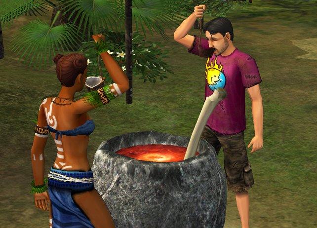 Auch David macht die Bekanntschaft der Ureinwohner und ihrer Gebräuche