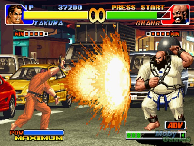 "... Takuma und Chang kämpfen in ""King of Fighters ´95"" ..."