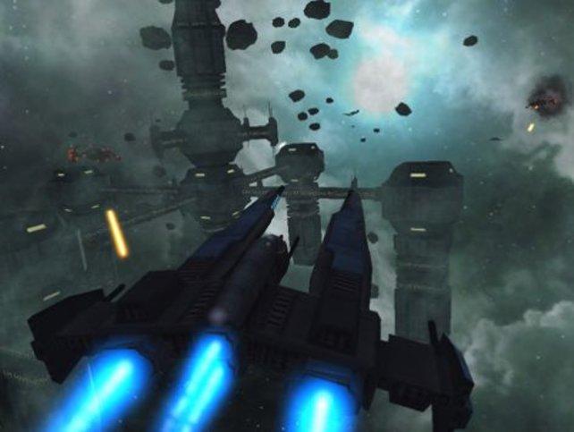 Galaxy on Fire 2 beeindruckt durch sehr attraktive Weltraum-Darstellungen.