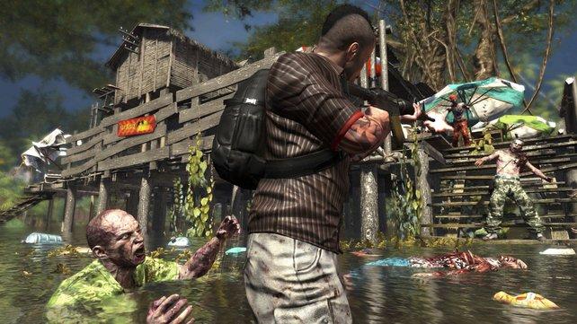 Logan und seine Kumpanen sowie die Zombies sehen aus wie im Vorgänger.