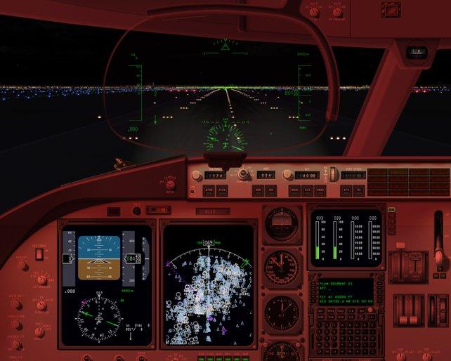 X-Plane 10 erfreut Profis mit originalgetreuen Cockpits, lässt Einsteiger aber im Regen stehen.