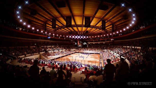 In der modernen Halle in New York spielt ihr 6-gegen-6.