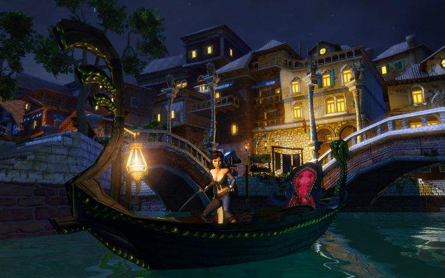 Eine atmosphärische Bootsfahrt durch Venedig darf natürlich nicht fehlen.
